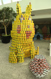 Food sculpture presented at 10th Annual Long Island Canstruction competition in Uniondale. UNIONDALE, NEW YORK - NOVEMBER 1, 2016: Food sculpture presented at Stock Image