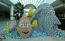 Food sculpture presented at 10th Annual Long Island Canstruction competition in Uniondale. UNIONDALE, NEW YORK - NOVEMBER 1, 2016: Food sculpture presented at Stock Images