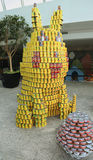 Food sculpture presented at 10th Annual Long Island Canstruction competition in Uniondale. UNIONDALE, NEW YORK - NOVEMBER 1, 2016: Food sculpture presented at Stock Photo