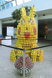 Food sculpture presented at 10th Annual Long Island Canstruction competition in Uniondale. UNIONDALE, NEW YORK - NOVEMBER 1, 2016: Food sculpture presented at Stock Photos