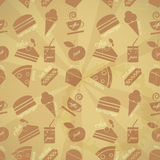 Food seamless background Royalty Free Stock Image