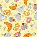 Food seamless background Stock Image