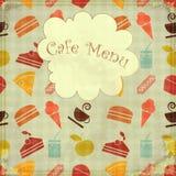 Food seamless  - Menu cover Stock Photos