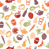 Food Seamless Pattern. Background with food icons. Works as a seamless pattern Royalty Free Stock Photos