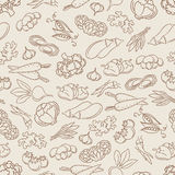 Food seamless pattern with vegetables Royalty Free Stock Photography