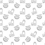 Food seamless pattern Royalty Free Stock Photography