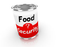 Food security tin can illustration on white Royalty Free Stock Image