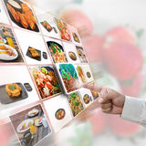 Food selection. Artwork of selection with food pictures royalty free stock photo