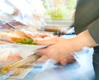 Food in a self service restaurant Stock Photo