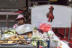 Food seller in Soi Cowboy in Bangkok Stock Image