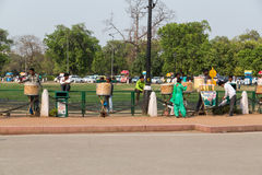 Food sellers near the India Gate in Delhi Royalty Free Stock Photography