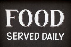 Food Served Daily Royalty Free Stock Image