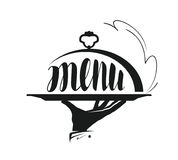 Food service, catering logo. Icon for design menu restaurant or cafe.. Food service, catering logo. Icon for design menu restaurant or cafe. Vector Stock Image