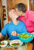 Food Service with a Kiss Royalty Free Stock Images