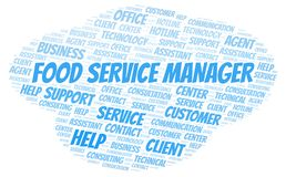 Food Service Manager word cloud. stock photography