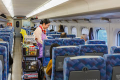 Food service on a Shinkansen Stock Images