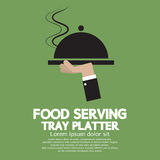 Food Serving Tray Platter. Illustration Royalty Free Stock Photography