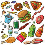 Food set Royalty Free Stock Images