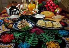 Food set  Central Asian cuisine Stock Photo