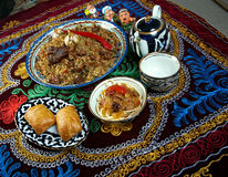 Food set  Central Asian cuisine Royalty Free Stock Image