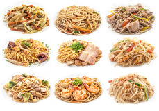 Food set of different pasta. Royalty Free Stock Photography