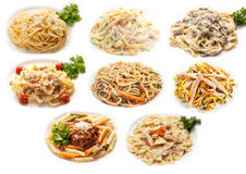 Food set of different pasta Stock Photo