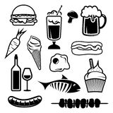 Food set icons Royalty Free Stock Images