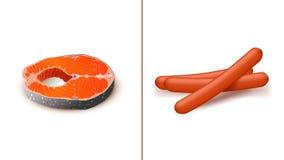 Food set meal. Illustration of set of four different types of meal vector illustration