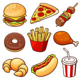 Food set. Vector illustration of Cartoon Food set stock illustration
