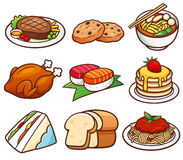 Food set. Vector illustration of Vocabulary Food set vector illustration
