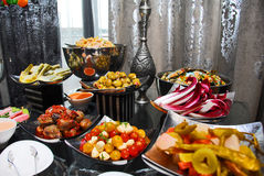assorted Food setup Stock Images