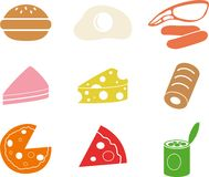 Food shapes Stock Image