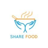 Food sharing royalty free illustration