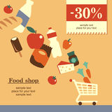 Food shop background Royalty Free Stock Photography