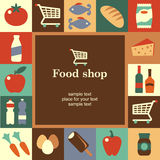 Food shop frame Stock Photos
