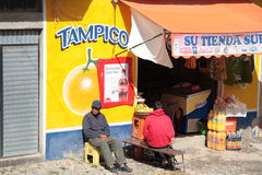 Food shop in La Paz, Bolivia Royalty Free Stock Photography