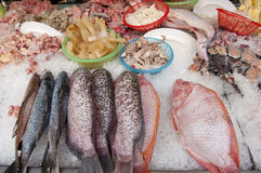 Food shop, market, supermarket and restaurant Stock Images