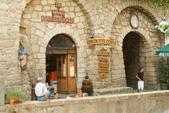 Food shop at Sartene on the island of Corsica Royalty Free Stock Photos