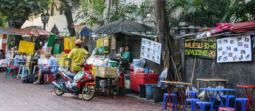 The food shop in the street in bangkok,thailand Royalty Free Stock Images