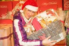 Food shopping for the Christmas holidays Stock Image