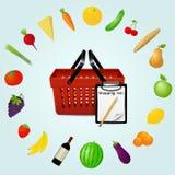 Food shopping concept Stock Photos