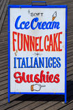 A food sign at Coney Island, Brooklyn, New York Royalty Free Stock Photos