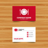 Food sign icon. Cutlery symbol. Knife and fork. Stock Image