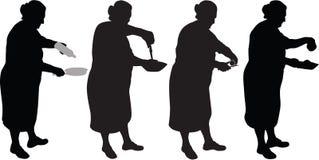 Food silhouette vector illustration
