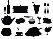 Food Silhouette Stock Image