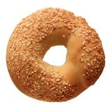 Bagel with sesame seeds royalty free stock images