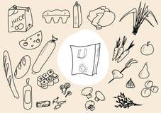 Food sketch Royalty Free Stock Image