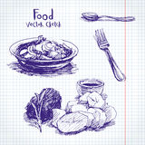 Food  sketch Royalty Free Stock Photography