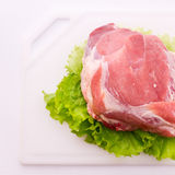Food. Sliced pieces of raw meat for barbecue Stock Photography