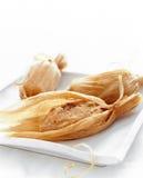 Food, smoked turkey sweet potato tamales Royalty Free Stock Photo
